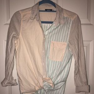 Urban Outfitters- BDG Striped Pastel Button Up Top